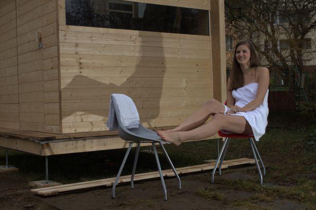 o.s. Žijeme tady zprovoznilo putovní saunu