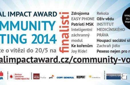 Rozhodněte o vítězi Social Impact Award 2014