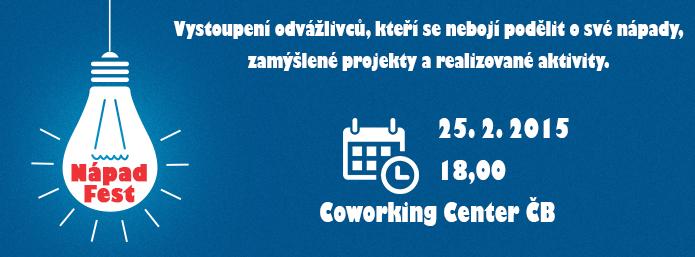 První NápadFest v Českých Budějovicích startuje v únoru