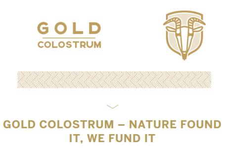 Gold Colostrum, startup, který se snaží dobýt světové Indiegogo