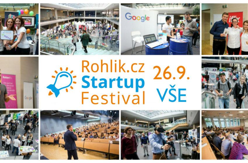 Startup Festival 2018 s podporou Rohlíku.cz již za pár dní