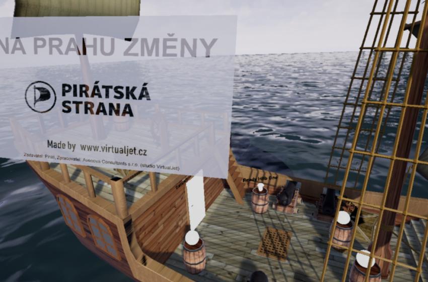 Startup VirtualJet vytvořil VR aplikaci pro volební kampaň Pirátů